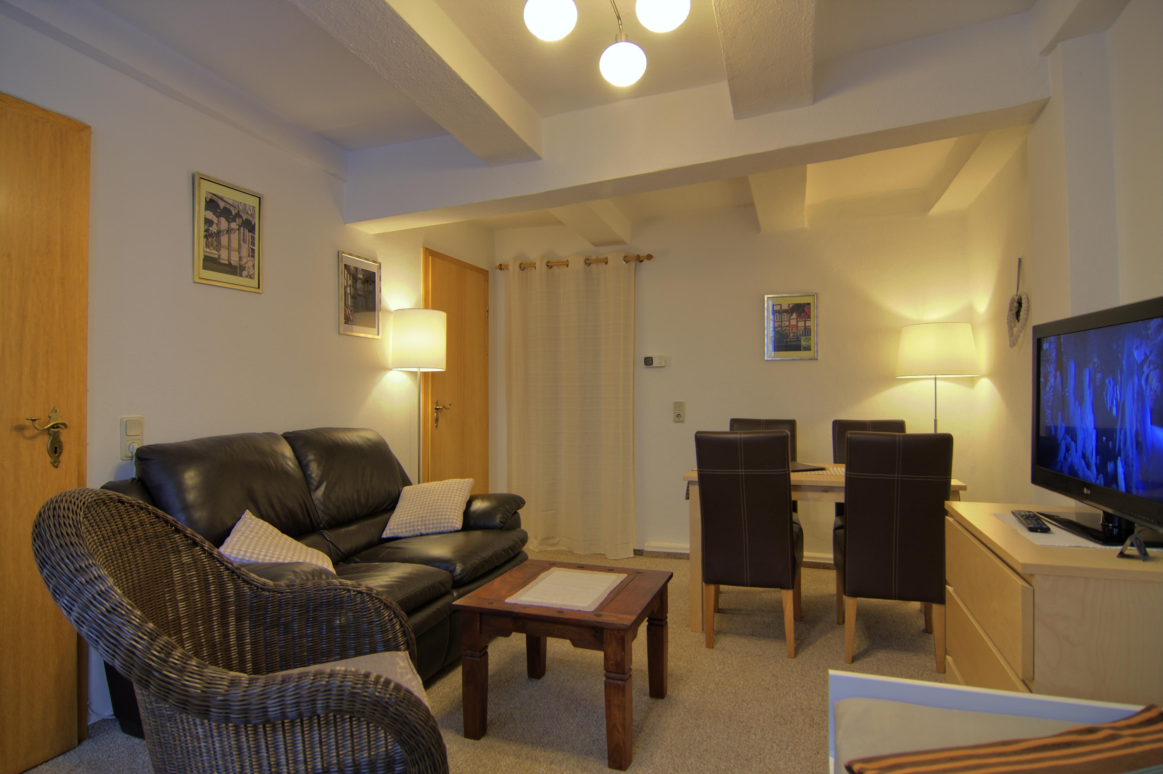 Wohnzimmer der Ferienwohnung im Erdgeschoß
