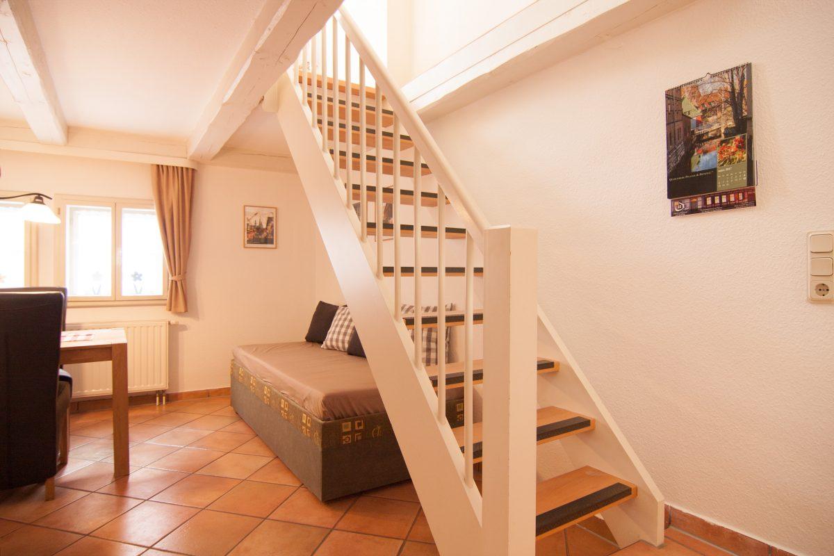 Treppe zum Wohnzimmer