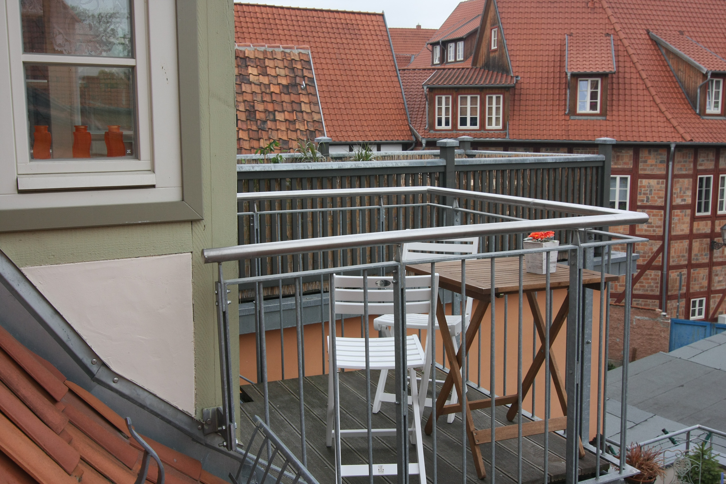 kleiner Balkon der Ferienwohnung