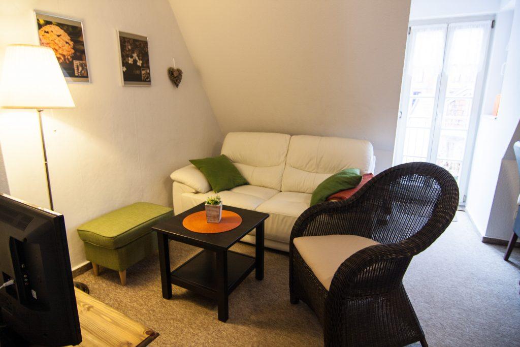 Wohnzimmer der Ferienwohnung No2