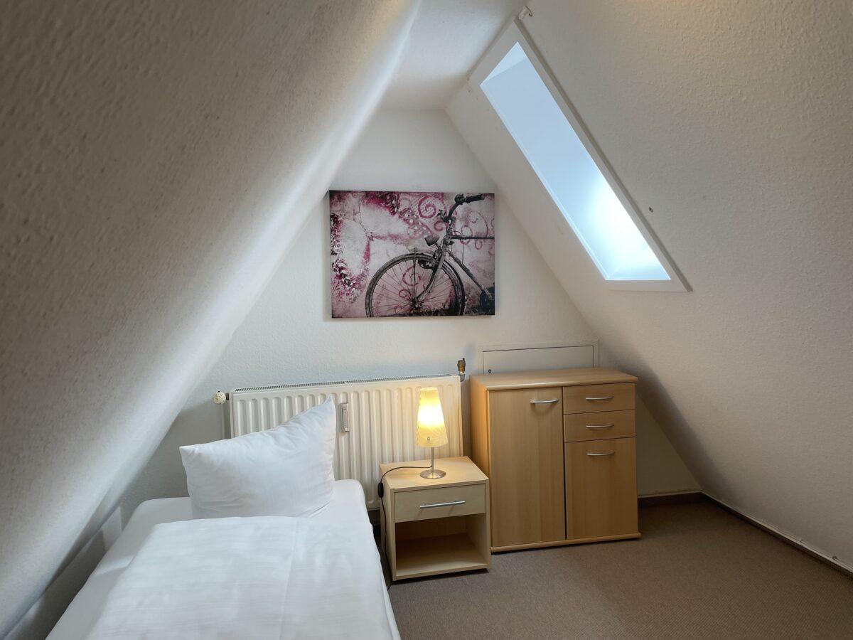 Schlafzimmer im oberen Bereich der Ferienwohnung